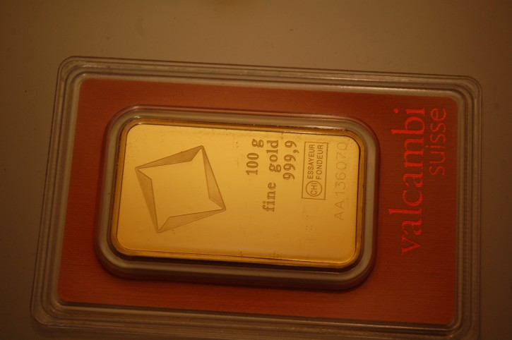 Gold Tafelgeschäft Paket: Zwei 100g Barren + eine 1Oz Goldmünze