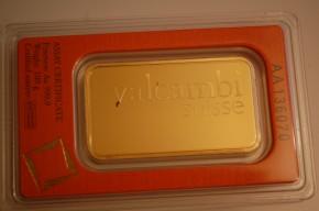 Goldbarren 100g VALCAMBI, prägefrisch